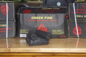 Greek Fire Holzkohle Briketts 10 kg